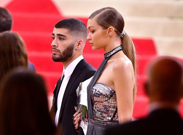 Zayn Malik with girlfriend Gigi