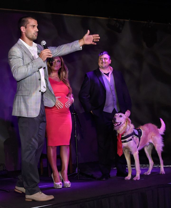 Decker and his wife, country music singer Jesse James, work with Freedom Service Dogs to help military veterans adopt dogs.