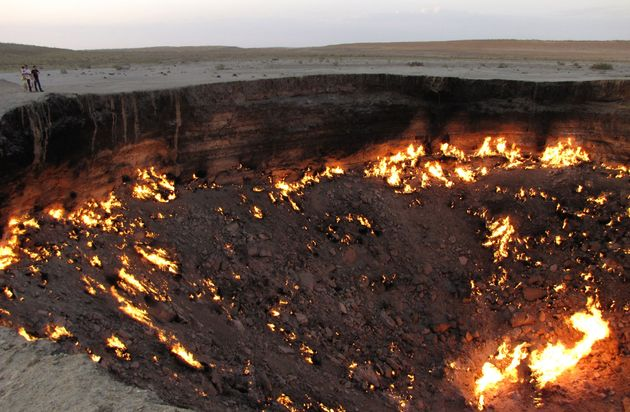'The Gateway to Hell,' a huge burning gas crater in the heart of Turkmenistan's Karakum