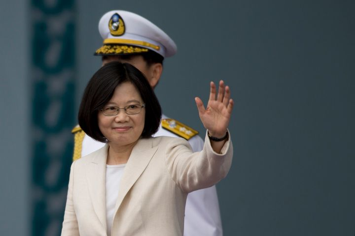 """Tsai Ing-wen, Taiwan's first female president, was sworn into office Friday. She said Taiwan must be a """"staunch guardian of p"""