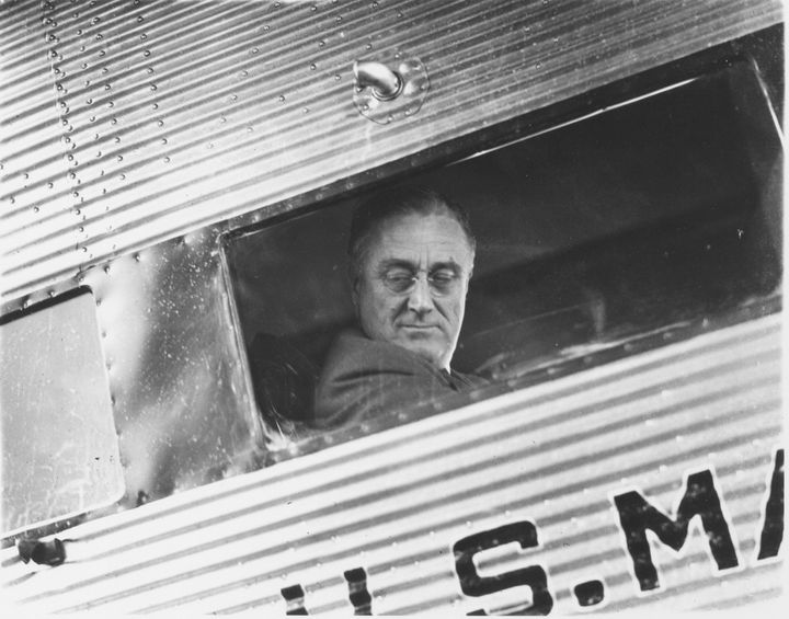 Franklin D. Roosevelt took a plane from New York to Chicago to accept his nomination in person at the 1932 Democratic Na