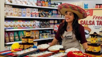 SUPERSTORE -- 'Shots and Salsa' Episode 102 -- Pictured: America Ferrera as Amy -- (Photo by: Vivian Zink/NBC/NBCU Photo Bank via Getty Images)