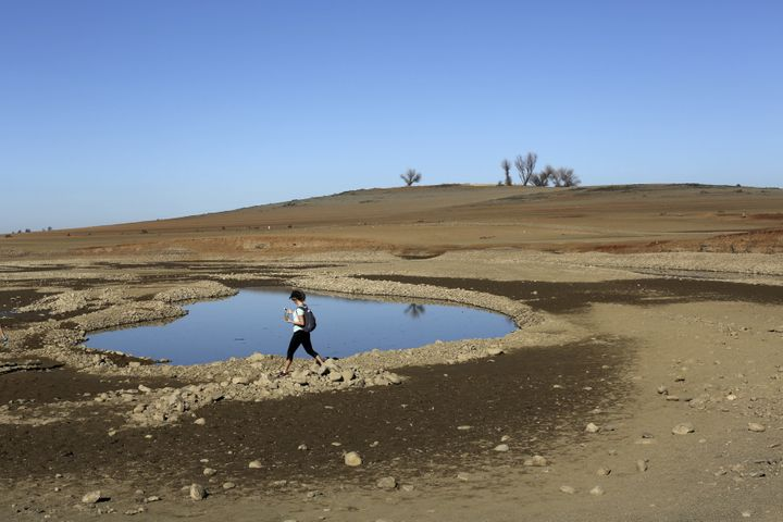 Folsom Lake, in California, was at 17 percent of its capacity in 2014, thanks to drought conditions.
