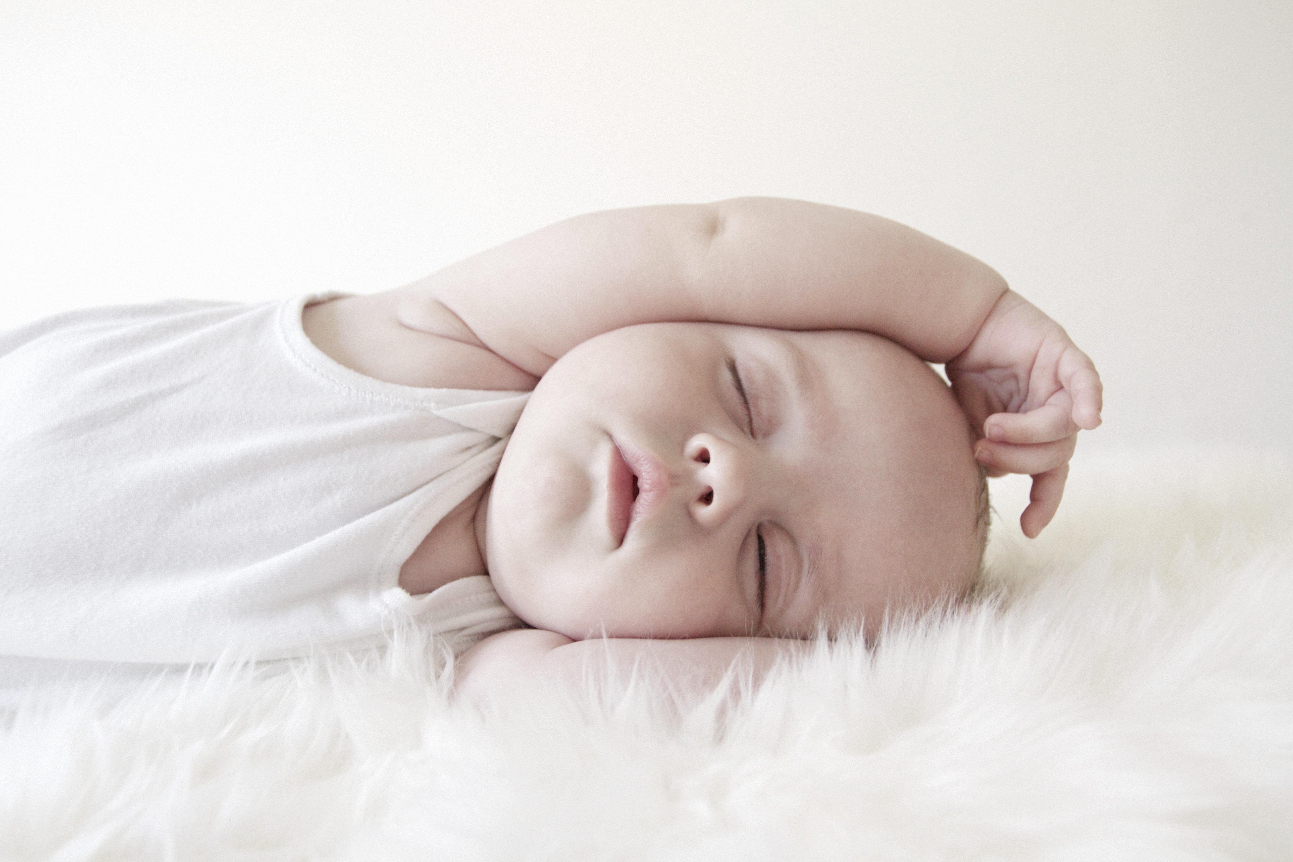 Portrait of baby sleeping