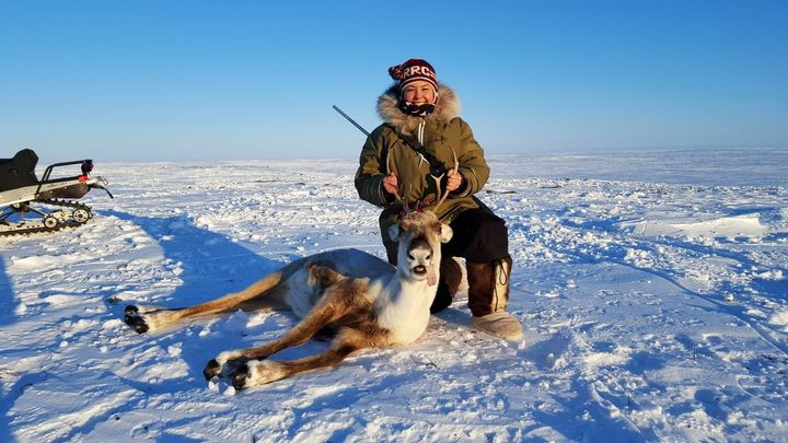 Maatalii Okalik tries to lead by example by speaking Inuktitut, learning about the environment, hunting and fishing and thriv