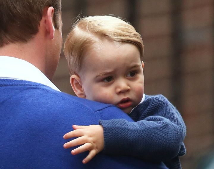 Prince William admitted that as a baby Prince George was quick to slumber.