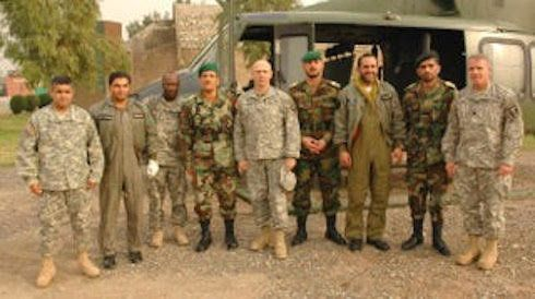 Sangi, left, with senior military officers from U.S, Afghanistan Army and Pakistan Army, in Peshawar, Pakistan, in 2006 or 20