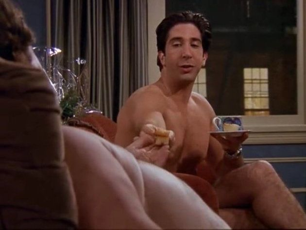 Ross is actually just hanging out with a Guy in this shot.