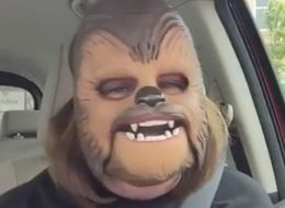 This Woman And Her Chewbacca Mask Are The Most Joyful Thing On The Internet