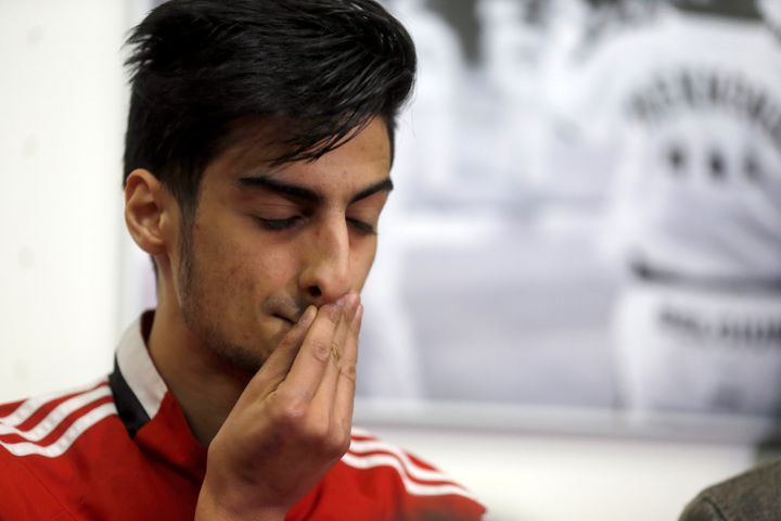 Mourad Laachraoui, a Belgian Taekwondo athlete and brother of Najim Laachaoui, one of the Brussels suicide bombers, pict