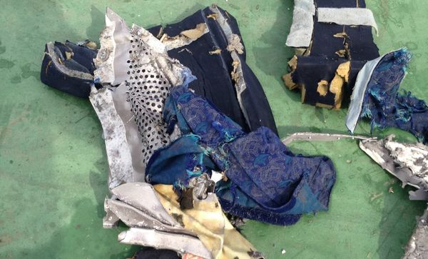 Passengers' belongings from EgyptAir Flight MS804.