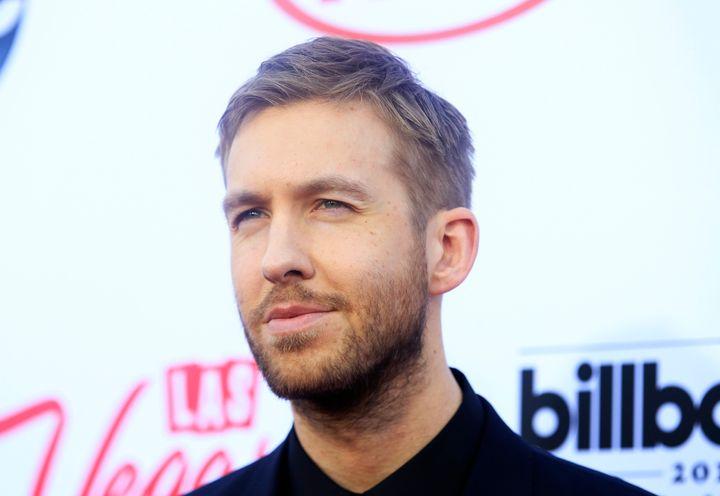 Calvin Harris arrives at the 2015 Billboard Music Awards in Las Vegas.
