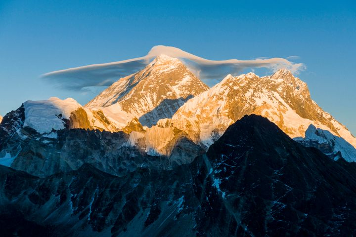 Two climbers have died during their descent from the top of Mount Everest.