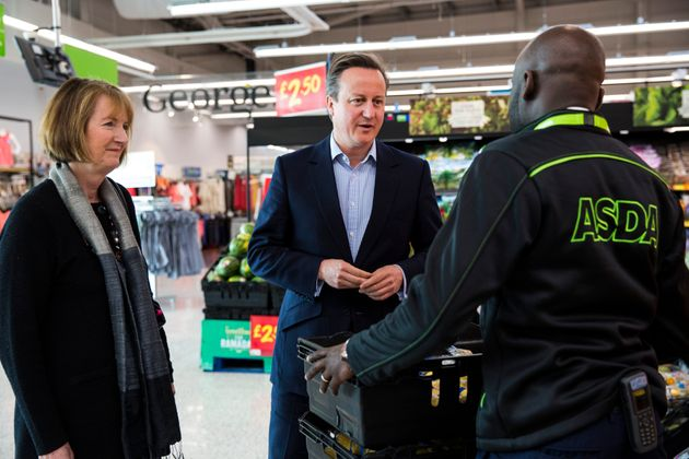 Harriet Harman with David Cameron on the EU campaign trail in