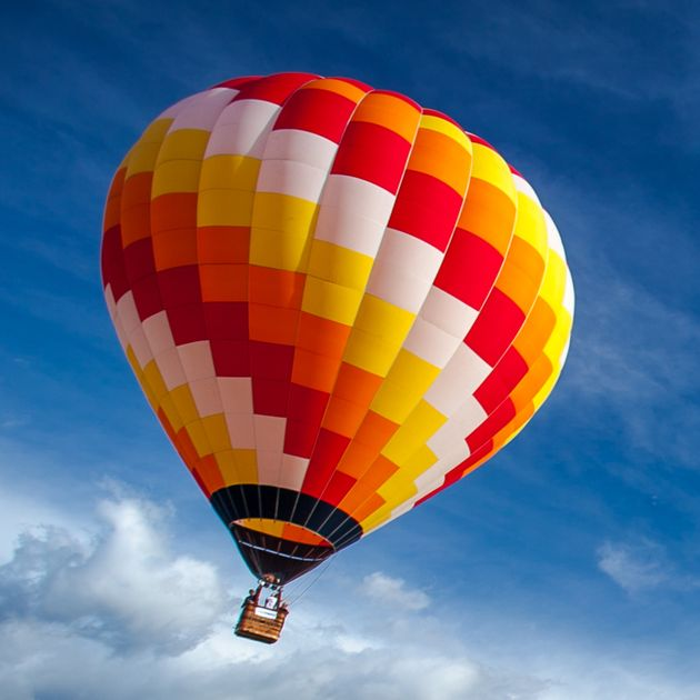 A woman was taken to hospital after her hot air balloon crashed in Northamptonshire. (File