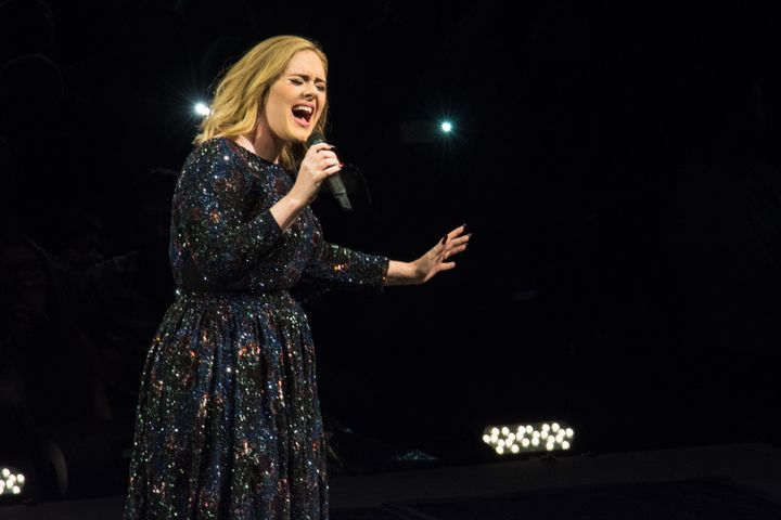 Adele performs at Meo Arena on May 21, 2016, in Lisbon, Portugal.