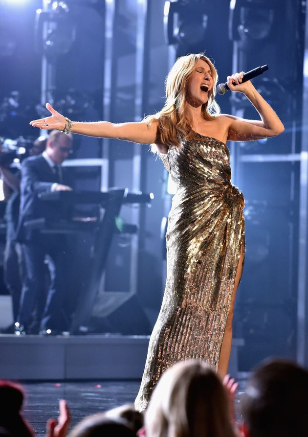 Honoree Celine Dion performs onstage during the 2016 Billboard Music Awards at T-Mobile Arena on May...