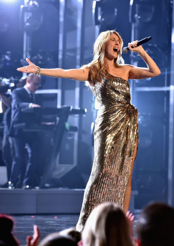 Honoree Celine Dion performs onstage during the 2016 Billboard Music Awards at T-Mobile Arena on May 22, 2016 in Las Vegas, N