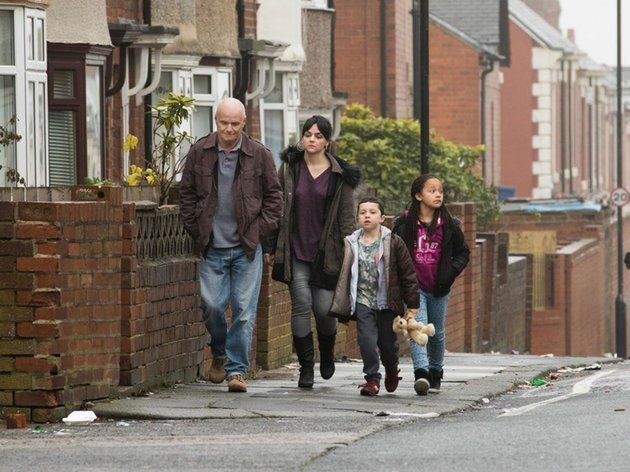 Daniel Blake, left, played by Dave Johns and the single mother, played by Hayley