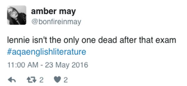 21 People Whose English Literature GCSE Was Anything But Lit
