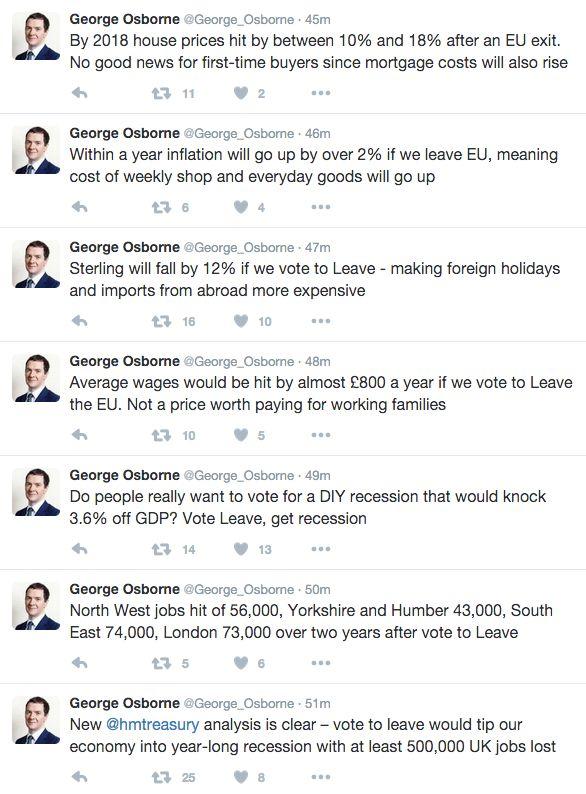 George Osborne drip-feeding the warnings on