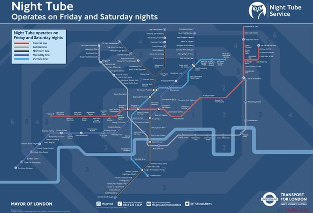 The full Night Tube map. Click here to