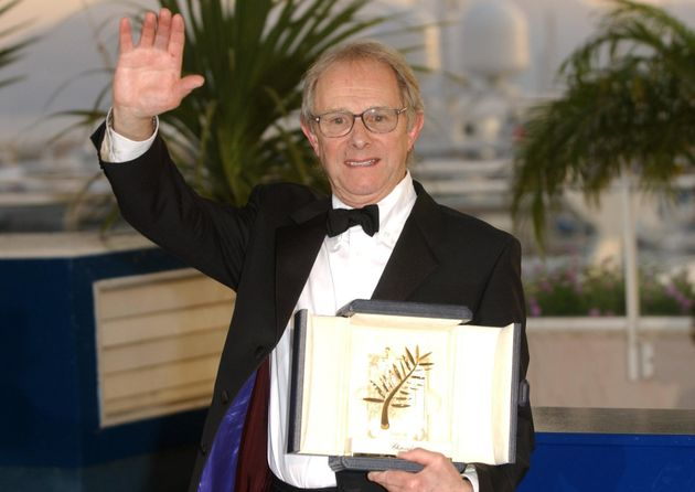 Ken Loach with the Palme D'Or award for his film The Wind That Shakes The Barley, at the 59th Cannes...