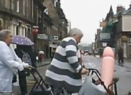 Everyone Is Losing It Over This Video Of An Elderly Woman Taking A Giant Penis For A Walk