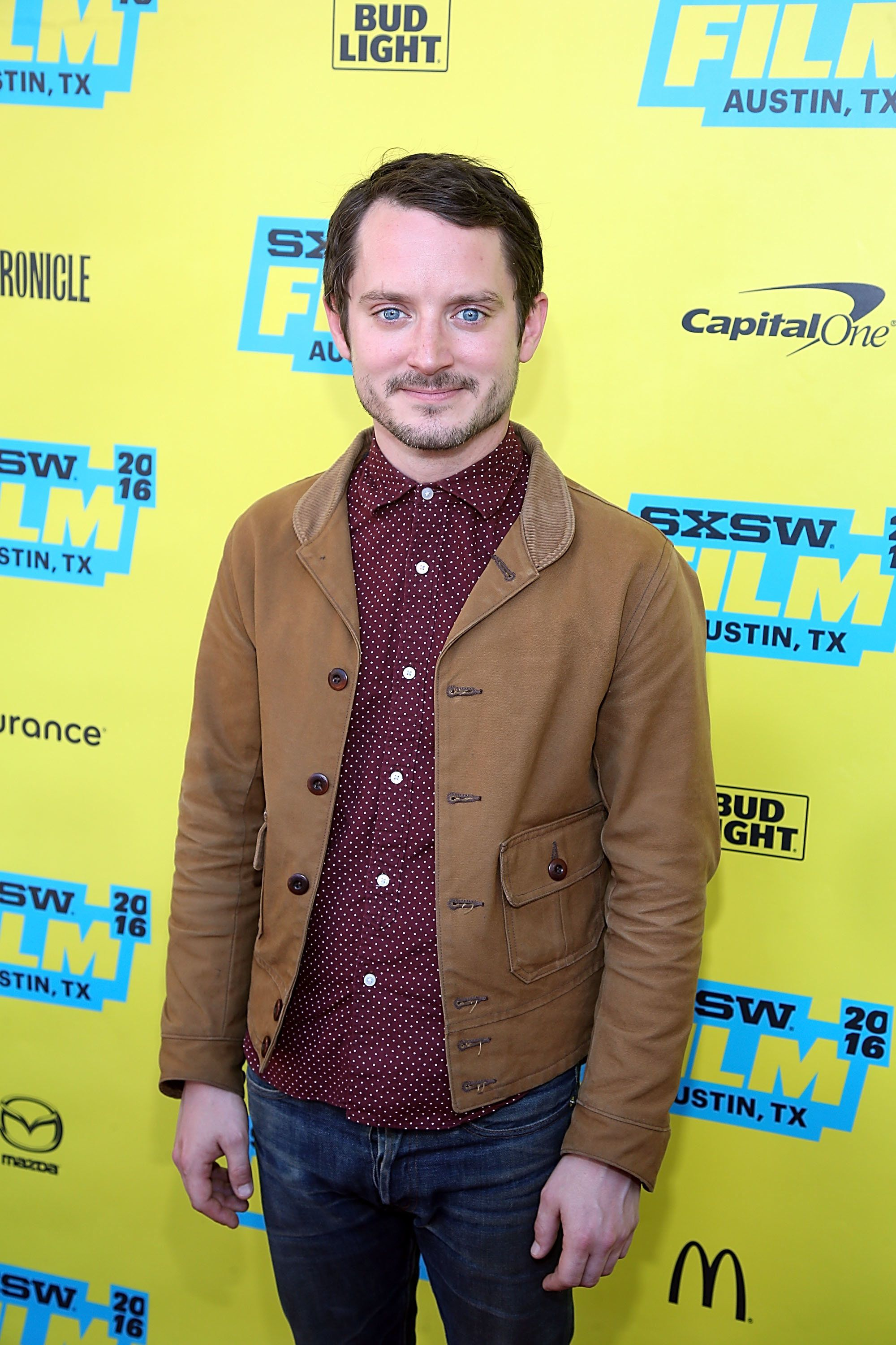 AUSTIN, TX - MARCH 13:  Elijah Wood attends the premiere of 'The Trust' at the Paramount Theater during the SXSW Film-Interactive-Music festival on March 13, 2016 in Austin, Texas.  (Photo by Gary Miller/Getty Images)