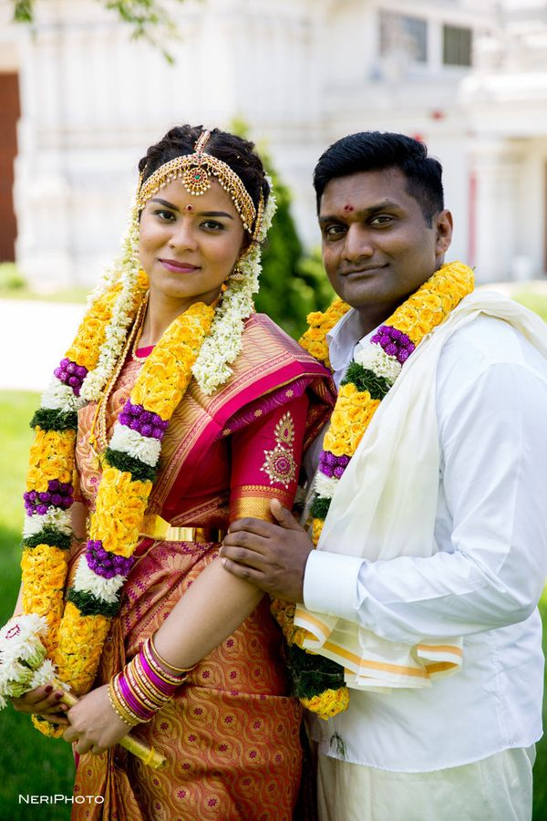 """Siva and Pooja tied the knot at the Hindu Temple of Greater Chicago on Thursday and celebrated with family and friends on Su"