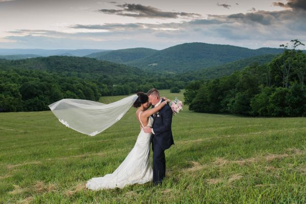 """Abby and Zeke's mountainside wedding at the breathtaking Springtree Farms venue was a dream come true! This gorgeous couple"