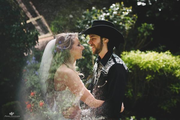 """Rachel Watt and Terry Henry love all things USA! They had the most beautiful Western style wedding at the Clandeboye Es"