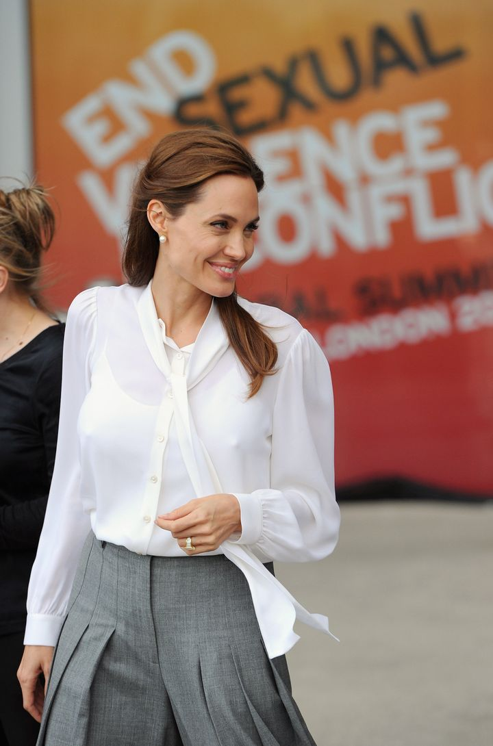 LONDON, ENGLAND - JUNE 11: Angelina Jolie attends a special screening of 'The Land Of Blood And Honey' during the Global Summ