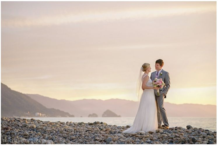 """Chris and I married at Playa Fiesta in Puerto Vallarta. An amazing wedding topped off by an amazing sunset!"" -- <i>Darc"