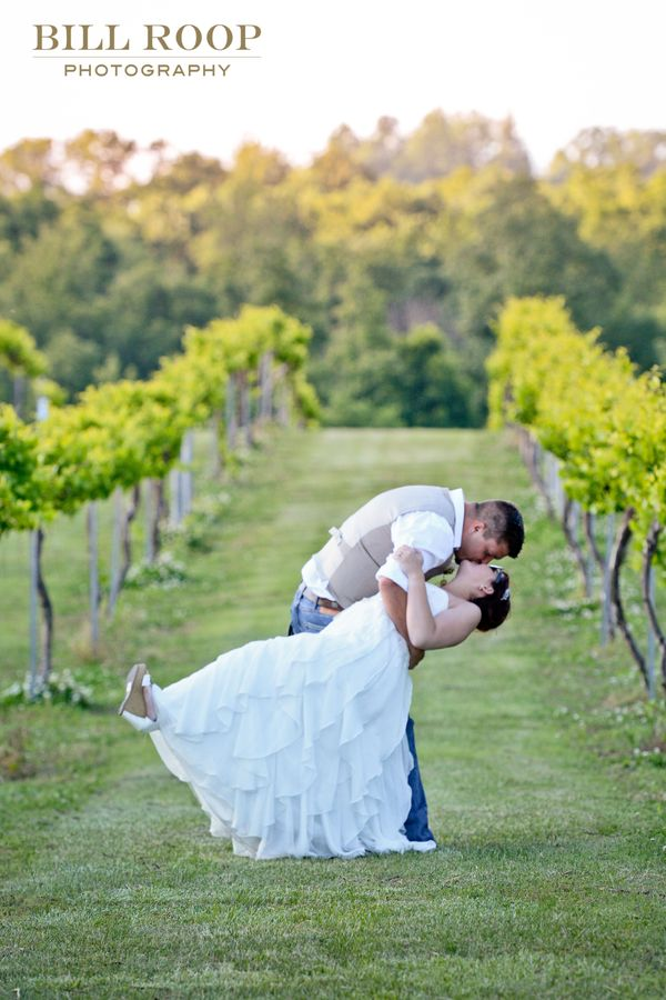 """Mitch and Nikki's wedding last Saturday, May 7. This photo was at the Tsali Notch Vineyard in East Tennessee."" -- <i>Bi"