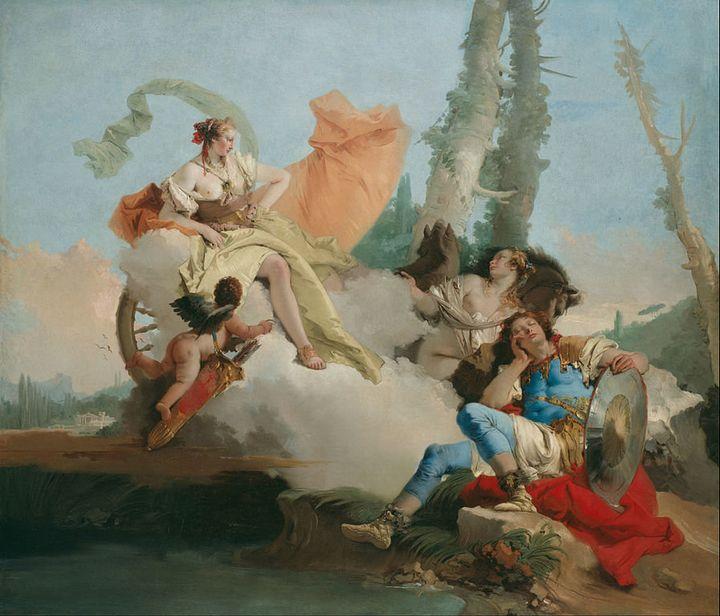 "Giovanni Battista Tiepolo, ""Rinaldo Enchanted by Armida,"" 1742-1745"