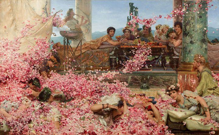 "Lawrence Alma-Tadema, ""The Roses of Heliogabalus,""1888"