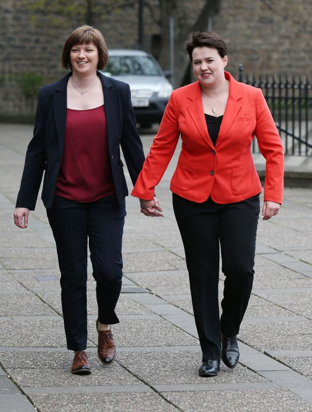 Ruth Davidson (Right) and her parter Jen Wilson