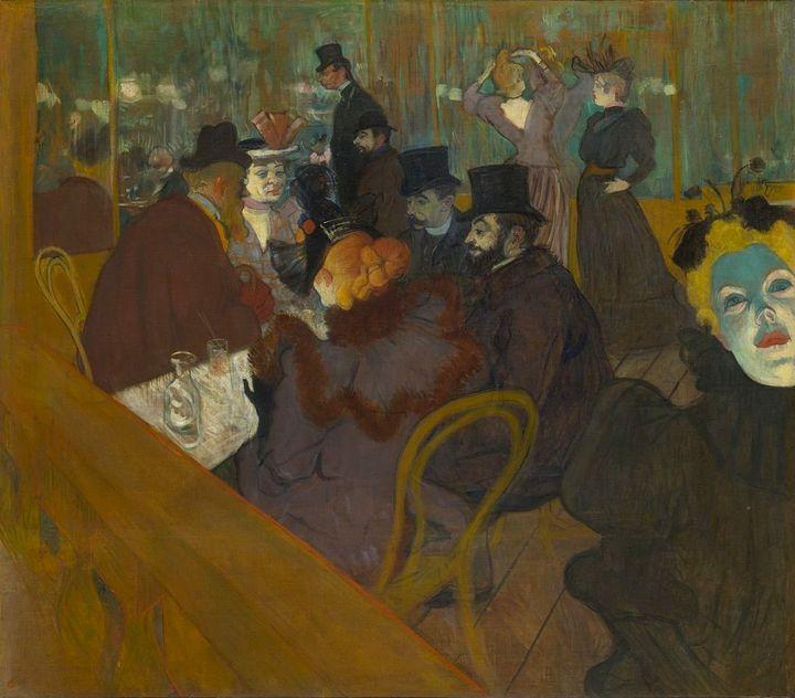 """Henri de Toulouse-Lautrec, """"At the Moulin Rouge,""""1892-95"""