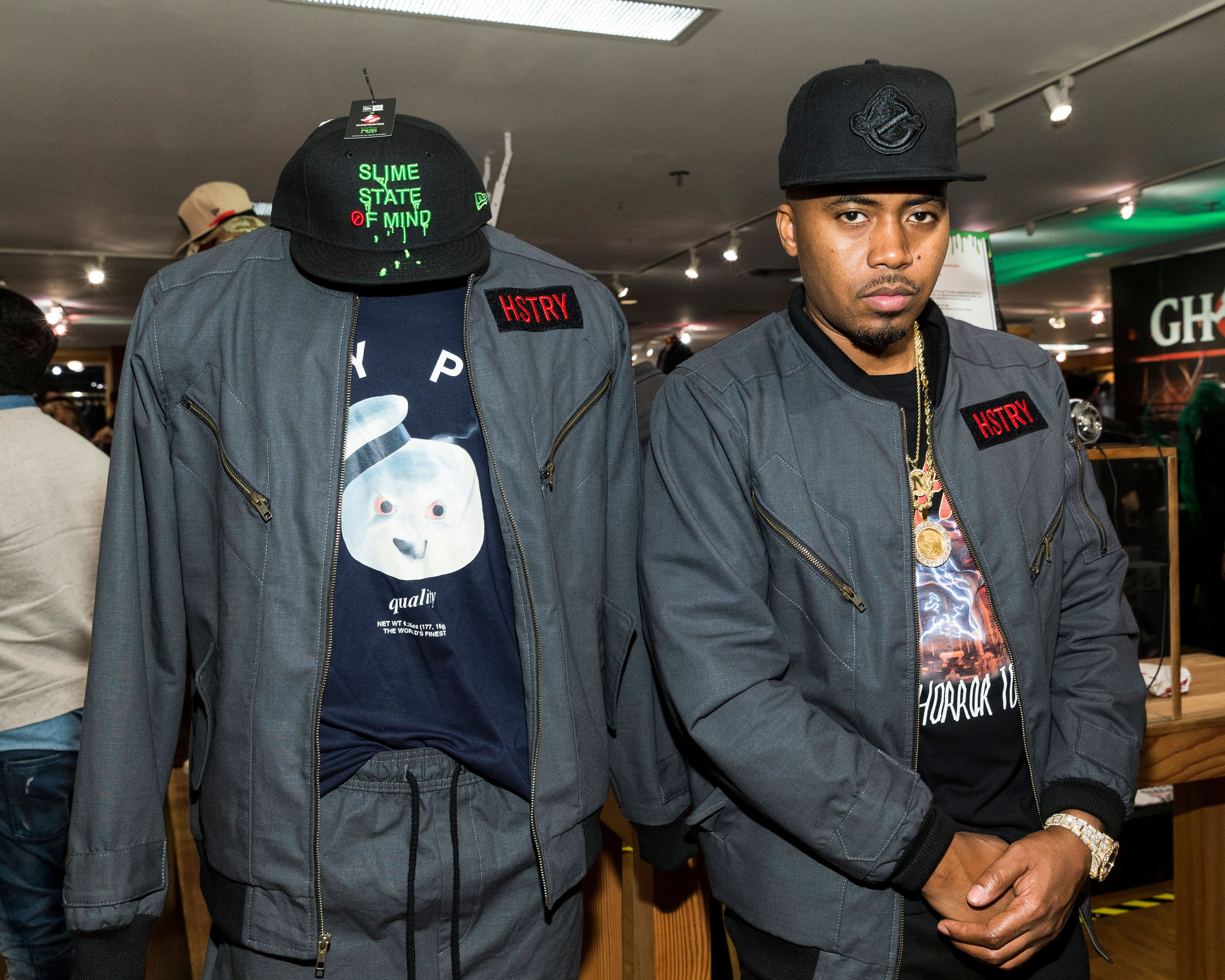 LOS ANGELES, CA - MAY 14:  Nas attends an event where  Nas with Ron Herman unveil Ghostbusters Fashion Collection on May 14, 2016 in Los Angeles, California.  (Photo by Rich Polk/Getty Images for Sony Pictures Television)