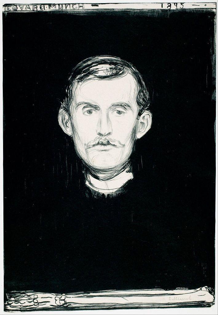 "Edvard Munch, ""Self-Portrait,"" 1895"