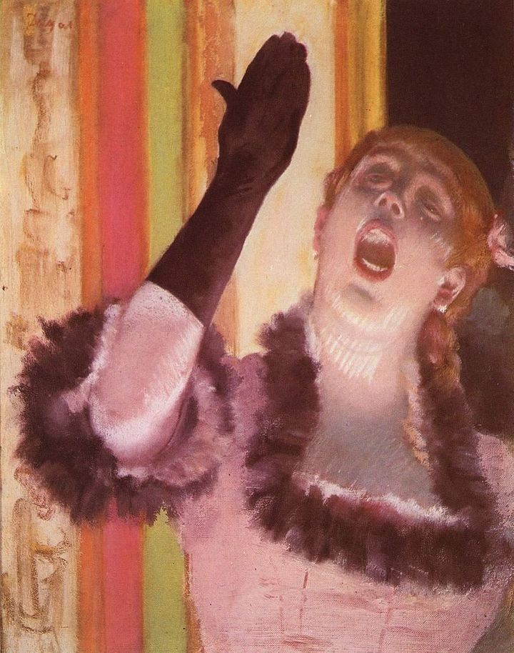 "Edgar Degas, ""Café Singer,"" 1878"