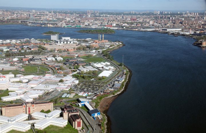 An aerial view of Rikers Island Correctional Facility, New York's City main jail complex.