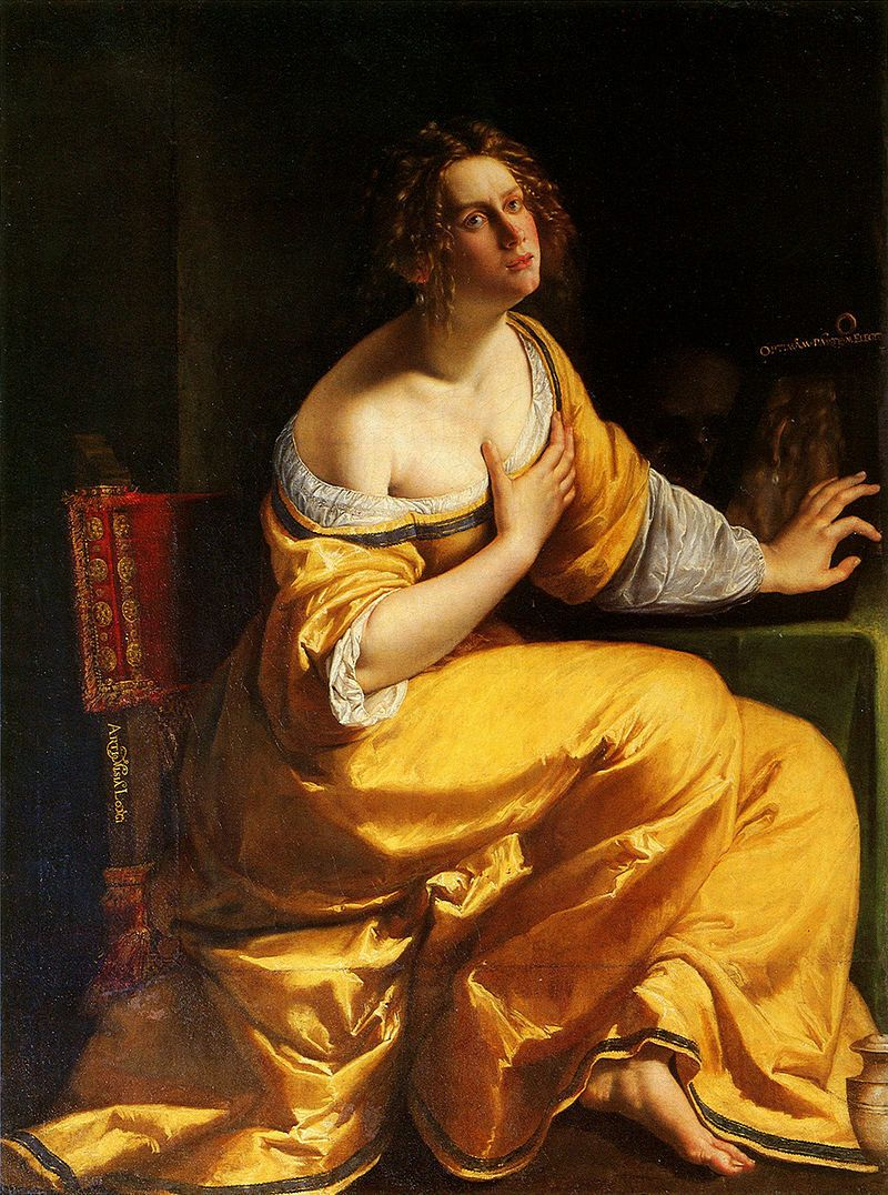 "Artemisia Gentileschi, ""Conversion of the Magdalene (The Penitent Mary Magdalene),"" 1615-1616 or 1620-1625"