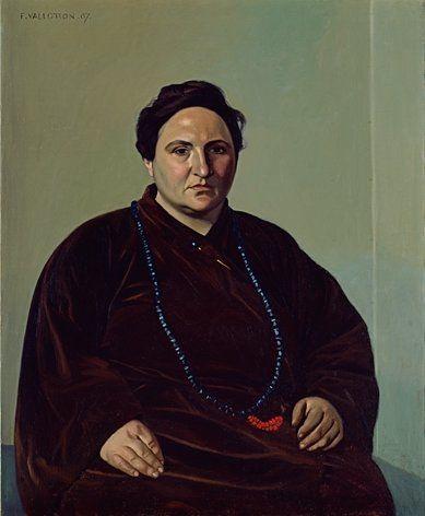 """Félix Vallotton, """"Portrait ofGertrude Stein,"""" 1907"""