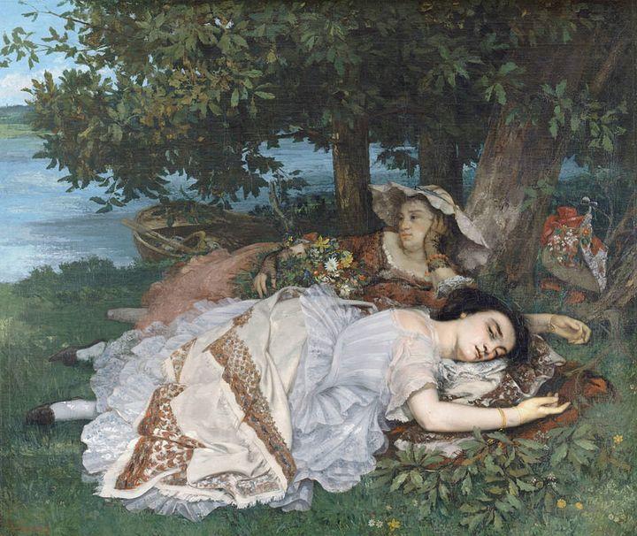 """Gustave Courbet, """"Les Demoiselles des bords de la Seine,"""" 1856"""