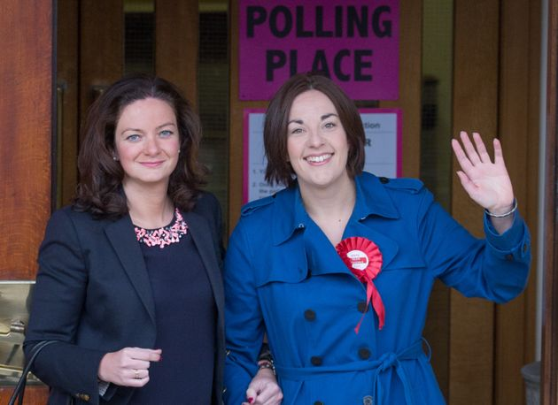 Kezia Dugale (Right) with her partner Louise Riddell
