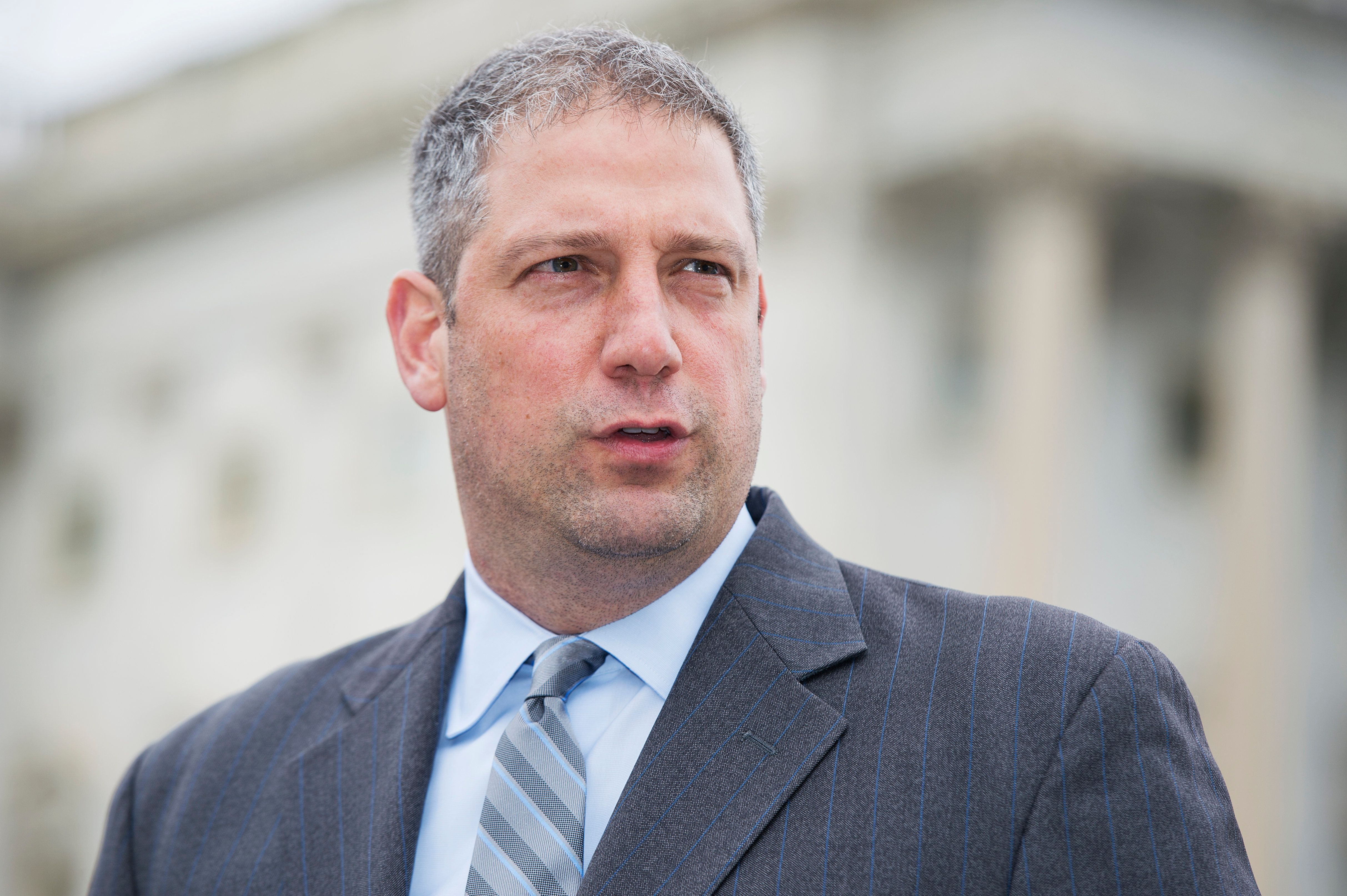 UNITED STATES - JUNE 03: Rep. Tim Ryan, D-Ohio, speaks during a news conference with other House democrats at the House triangle to urge Congress to not fast-track the Trans-Pacific Partnership and recognize a petition signed by 2 million Americans also opposing it, June 3, 2015. (Photo By Tom Williams/CQ Roll Call)