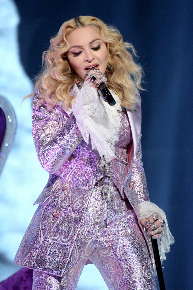 Madonna on stage at the Billboard Music