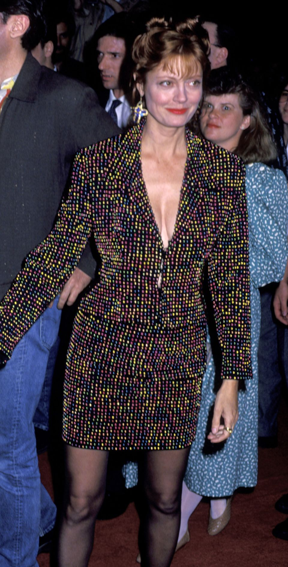 """Susan Sarandon during """"Thelma andLouise"""" New York City Premiere at Loews Theater in New York City."""